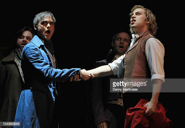Gareth Gates performs excerpts from Les Miserables at Barbican Theatre on September 22 2010 in London England