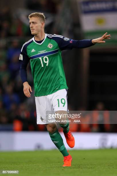 Gareth George Saville of Northern Ireland in action during the FIFA 2018 World Cup Qualifier between Northern Ireland and Germany at Windsor Park on...