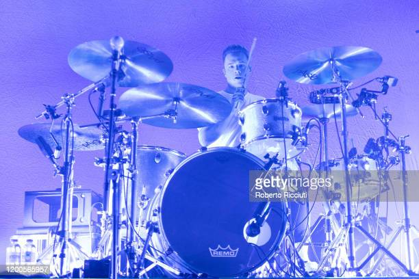 Gareth Grover of Frank Carter the Rattlesnakes performs on stage at Barrowland Ballroom on February 13 2020 in Glasgow Scotland