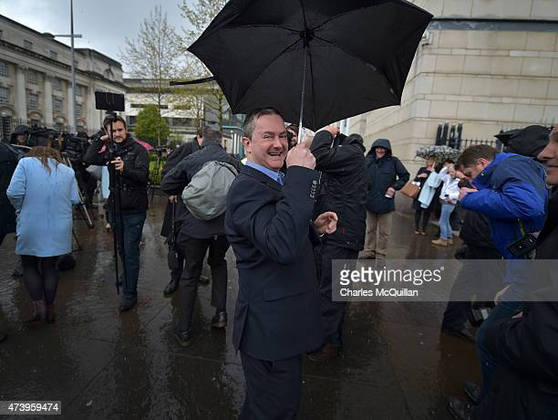 Gareth Lee a gay rights activist smiles as he leaves Laganside Courts after a judge ruled that a Christianrun bakery discriminated against him by...