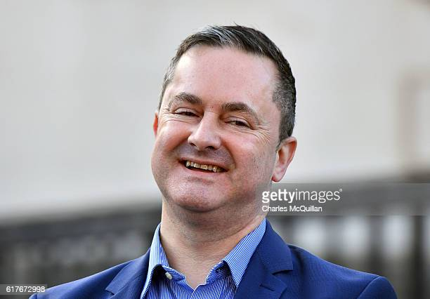 Gareth Lee smiles as he holds a press conference outside Belfast high court after Ashers Bakery lost their appeal in the so called 'Gay Cake' case on...