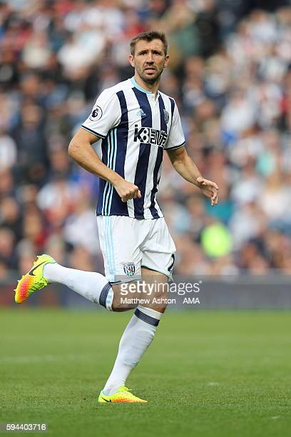 Gareth McAuley of West Bromwich Albion during the Premier League match between West Bromwich Albion and Everton at The Hawthorns on August 20 2016 in...