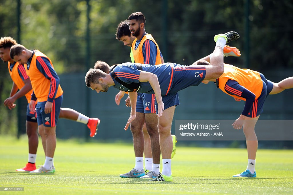 Gareth McAuley of West Bromwich Albion during the West Bromwich Albion training session at West Bromwich Albion Training Ground on September 10, 2015 in Walsall, England.