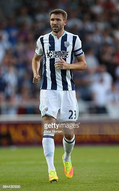 Gareth McAuley of West Bromwich Albion in action during the EFL Cup second round match between Northampton Town and West Bromwich Albion at Sixfields...
