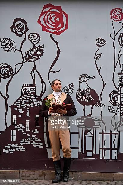 Gareth Morrison dressed a Robert Burns promotes the Red Red Rose festival on January 23 207 in EdinburghScotland Red Red Rose Street is Edinburgh's...
