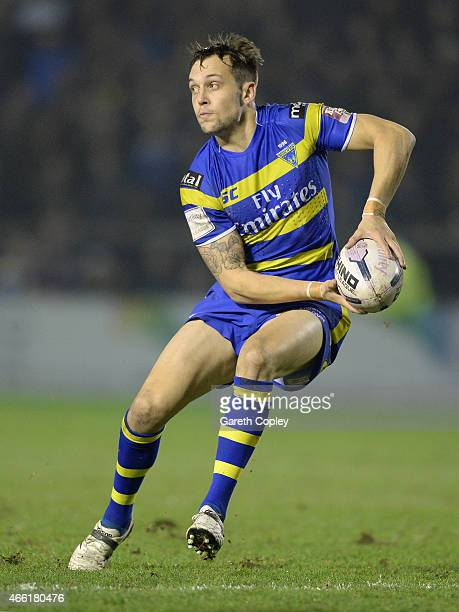 Gareth O'Brien of Warrington Wolves in action during the First Utility Super League match between Warrington Wolves and Leeds Rhinos at The Halliwell...