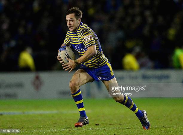 Gareth O'Brien of Warrington Wolves in action during the World Club Series match between Warrington Wolves and St George Illawarra Dragons at The...