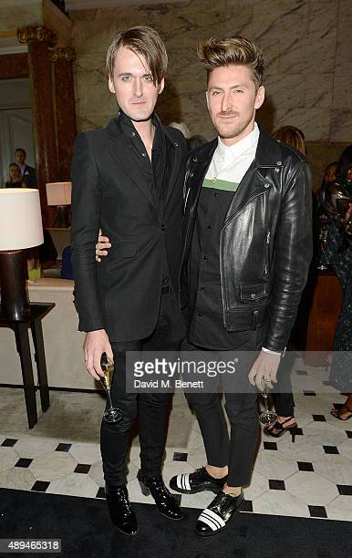 Gareth Pugh and Henry Holland attend the The Business Of Fashion #BoF500 Gala Dinner Party at The London EDITION Hotel on September 21 2015 in London...