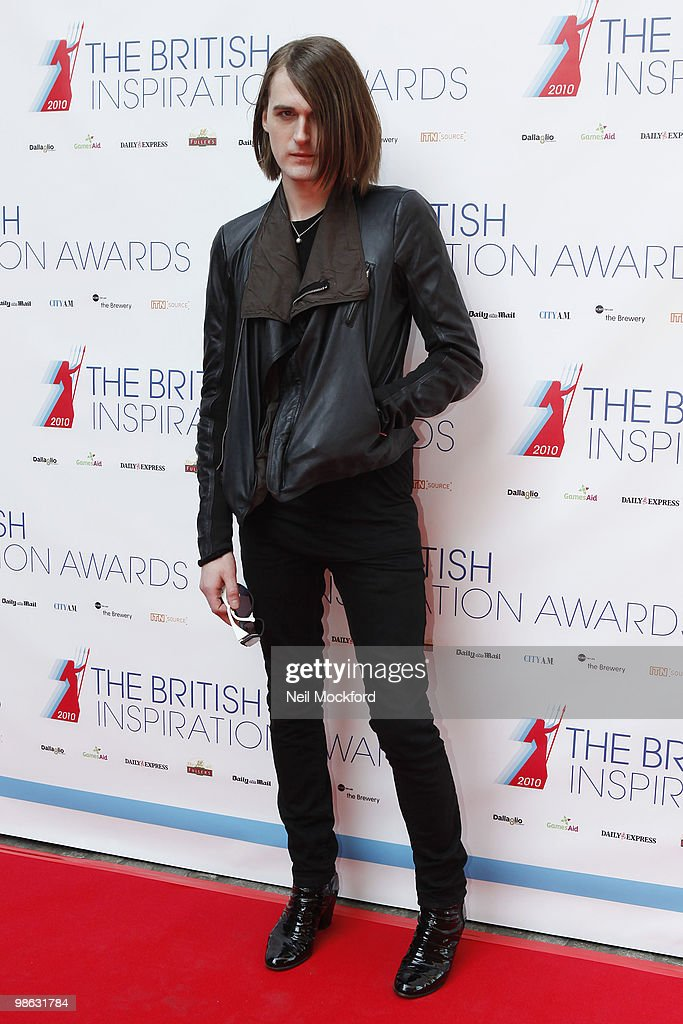 Gareth Pugh arrives for The British Inspiration Awards on April 23, 2010 in London, England.
