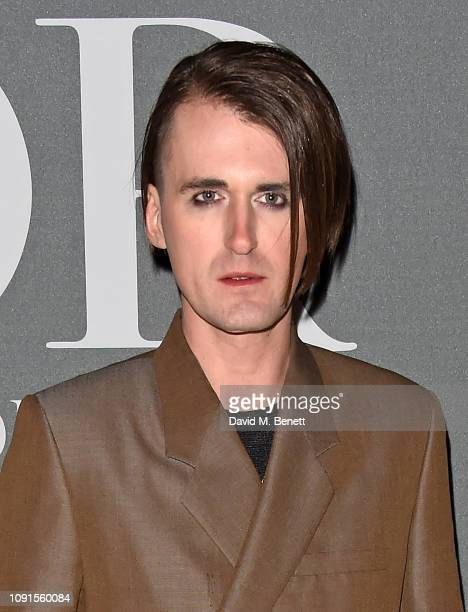 Gareth Pugh attends a private view of the 'Christian Dior Designer of Dreams' exhibition at The VA on January 30 2019 in London England