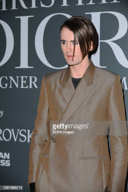 Gareth Pugh attends the Christian Dior Designer of Dreams fashion exhibition supported by Swarovski at the VA Museum London