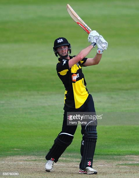 Gareth Roderick of Gloucestershire bats during the Royal London One Day Cup match between Gloucestershire and Middlesex at the Brightside Ground on...
