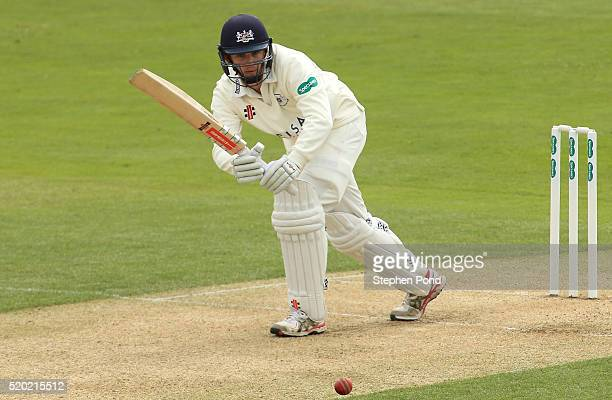Gareth Roderick of Gloucestershire in action batting during day one of the Specsavers County Championship match between Essex and Gloucestershire at...