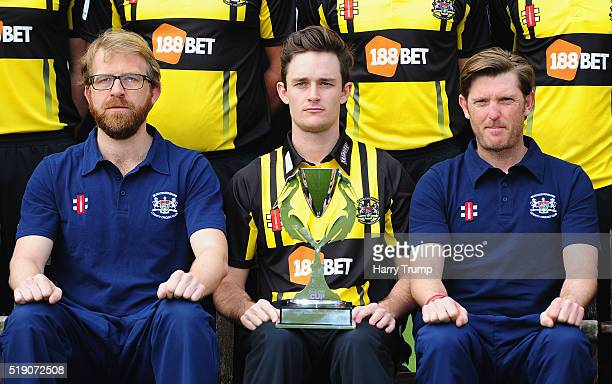 Gareth Roderick of Gloucestershire poses with the Royal London One Day Cup which Gloucestershire won last season during the Gloucestershire CCC...