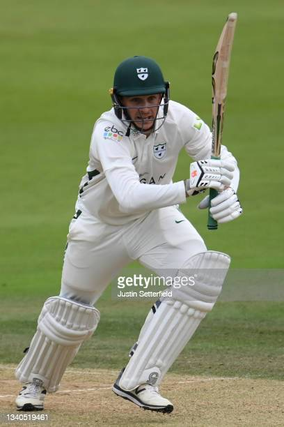 Gareth Roderick of Worcestershire plays a shot during the LV= Insurance County Championship match between Middlesex and Worcestershire at Lord's...