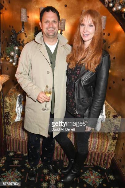 Gareth Skewis and Alice Skewis attend the Nick Cave The Bad Seeds x The Vampires Wife x Matchesfashioncom party at Loulou's on November 22 2017 in...
