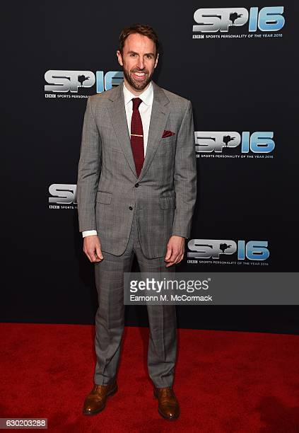 Gareth Southgate attends the BBC Sports Personality Of The Year on December 18 2016 in Birmingham United Kingdom