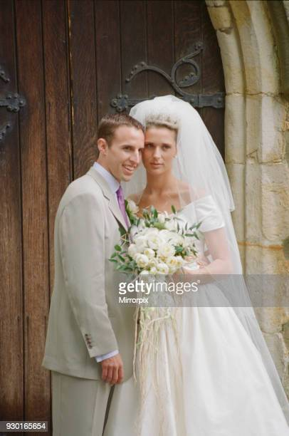 Gareth Southgate English footballer who has played for Crystal Palace Aston Villa and Middlesborough on his wedding day to his bride Alison Bird on...