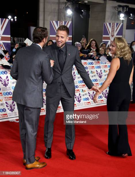 Gareth Southgate Harry Kane and Katie Goodland attend Pride Of Britain Awards 2019 at The Grosvenor House Hotel on October 28 2019 in London England
