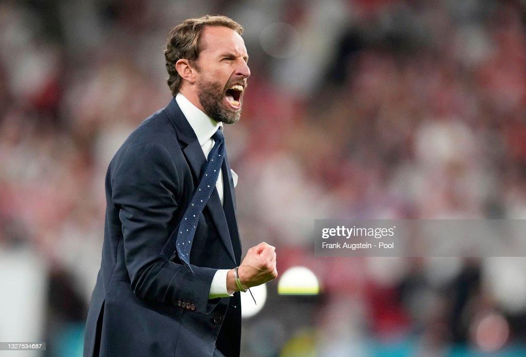 England v Denmark  - UEFA Euro 2020: Semi-final : Nieuwsfoto's
