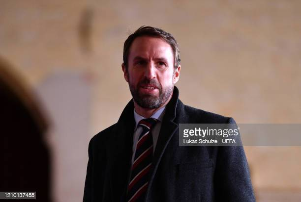 Gareth Southgate, Manager of England arrive prior to the UEFA Nations League Draw at Beur van Berlage on March 03, 2020 in Amsterdam, Netherlands.