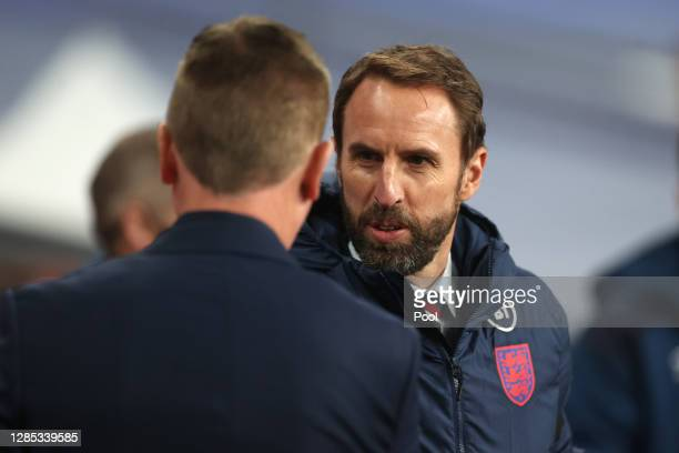 Gareth Southgate, Manager of England looks on during the international friendly match between England and the Republic of Ireland at Wembley Stadium...
