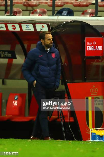 Gareth Southgate, Manager of England looks on during the UEFA Nations League group stage match between Belgium and England at King Power at Den Dreef...