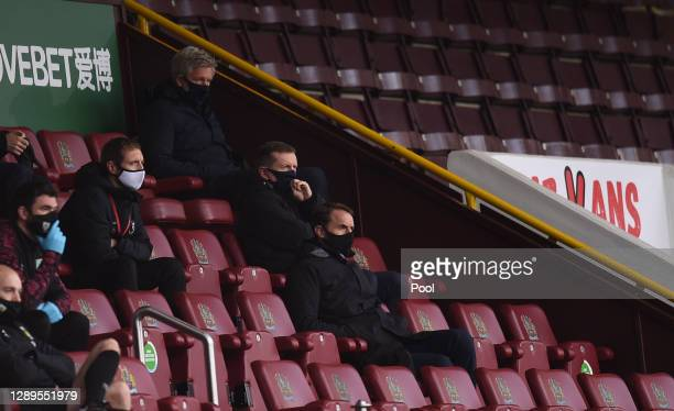 Gareth Southgate, Manager of England looks on from the stands during the Premier League match between Burnley and Everton at Turf Moor on December...