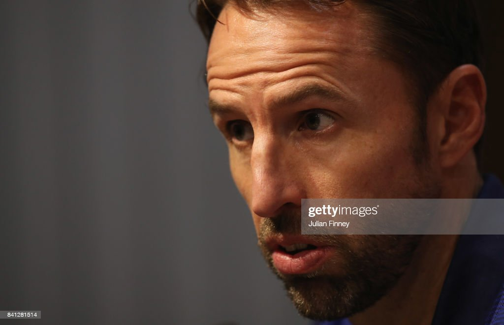 Gareth Southgate manager of England speaks during an England press conference on the eve of the World Cup qualifying match against Malta at Ta'Qali National Stadium on August 31, 2017 in Valletta, Malta.