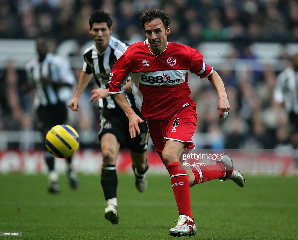Gareth Southgate of Middlesbrough in action during the Barclays Premiership match between Newcastle United and Middlesbrough at St James' Park on January 2, 2006 in Newcastle, England.