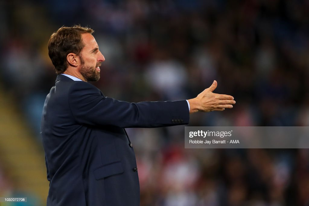 Gareth Southgate the head coach / manager of England during the International Friendly match between England and Switzerland at The King Power Stadium on September 11, 2018 in Leicester, United Kingdom.