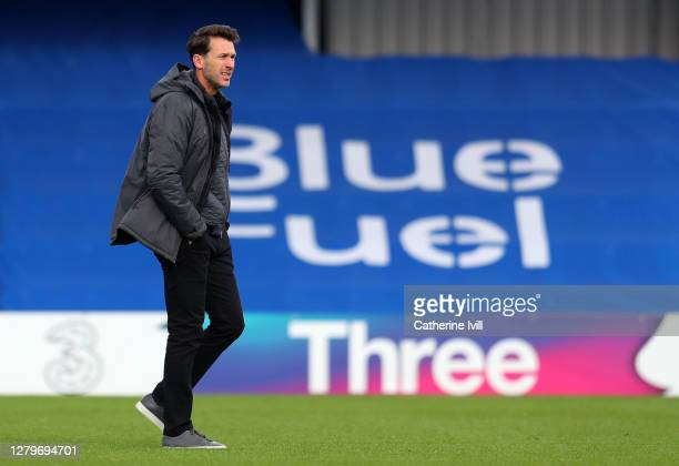 Gareth Taylor manager of Manchester City during the Barclays FA Women's Super League match between Chelsea Women and Manchester City Women at...