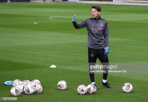 Gareth Taylor, manager of Manchester City in action during a training session at Manchester City Football Academy on July 17, 2020 in Manchester,...