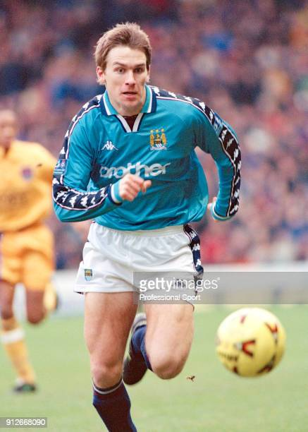 Gareth Taylor of Manchester City in action during the Nationwide Football League Division One match between Manchester City and Millwall at Maine...