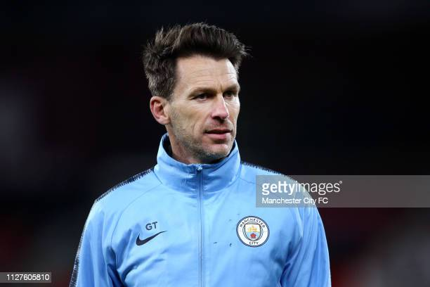 Gareth Taylor of Manchester City looks on prior to the FA Youth Cup 6th Round match between AFC Bournemouth and Manchester City at Vitality Stadium...
