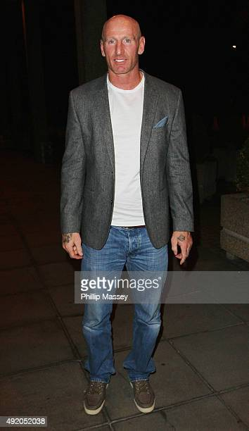 Gareth Thomas appears on the Late Late Show on October 9 2015 in Dublin Ireland