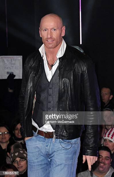 Gareth Thomas enters the Celebrity Big Brother House at Elstree Studios on January 5 2012 in Borehamwood England