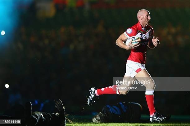 Gareth Thomas ex rugby player during the opening ceremony ahead of the Rugby League World Cup Group A match between Australia and England at the...