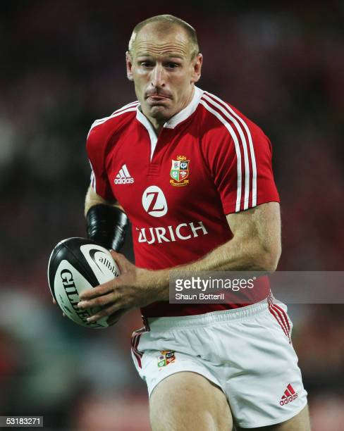 Gareth Thomas of the Lions in action during the second test match between New Zealand All Blacks and British and Irish Lions at the Westpac Stadium...