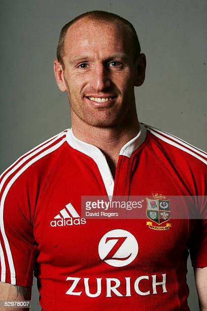 Gareth Thomas pictured during the British and Irish Lions Squad Photocall for the 2005 Tour to New Zealand on April 18 2005 in Cardiff Wales