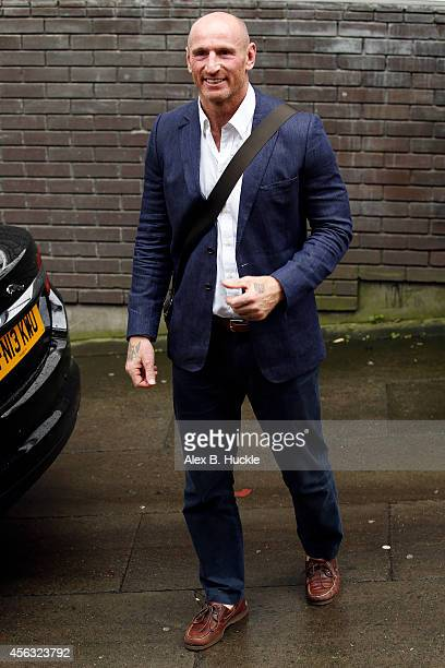 Gareth Thomas seen leaving the ITV Studios after an appearance on 'Loose Women' on September 29 2014 in London England Photo by Alex Huckle/GC Images