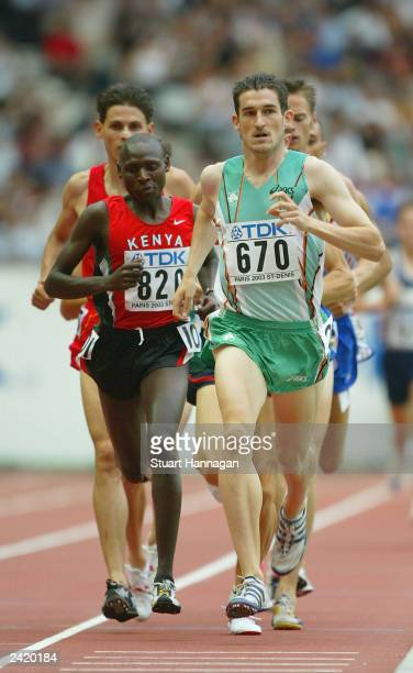 Gareth Turnbull of Ireland in action in the men's 1500m at the 9th IAAF World Athletics Championship August 23 2003 in Paris France