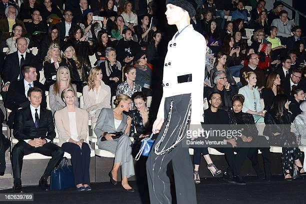 Gareth Wittstock Princess Charlene of Monaco Solene Hebert Margareth Made Wissam al Mana and Janet Jackson attend the Giorgio Armani fashion show...