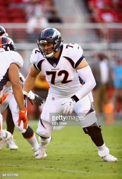 Garett Bolles of the Denver Broncos in action against the San Francisco 49ers at Levi's Stadium on August 19 2017 in Santa Clara California