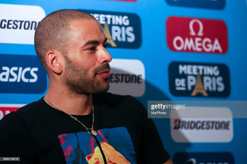 Olympic athletes answers questions during the Press Conference of the Diamond league