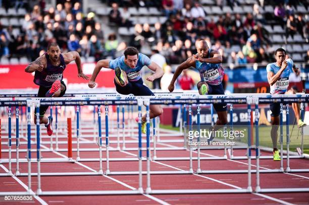 Garfield Darien Sergey Subenkov Antonio Alkana and Wilhem Belocian during the Meeting de Paris of the IAAF Diamond League 2017 at Stade Charlety on...