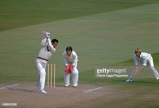 Garfield Sobers batting, Alan Knott the wicket-keeper and Frank Hayes at slip, 2nd Test England v West Indies Edgbaston August 1973.