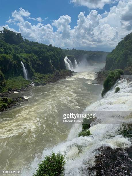 Garganta do Diabo (Devil's Throat) Runoff Iguazu Falls (Cataratas do Iguaçu, Brazil)