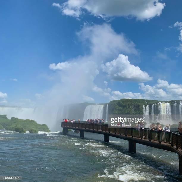 """garganta do diabo (devil's throat) walkway iguazu falls (cataratas do iguaçu, brazil) - """"markus daniel"""" photos et images de collection"""