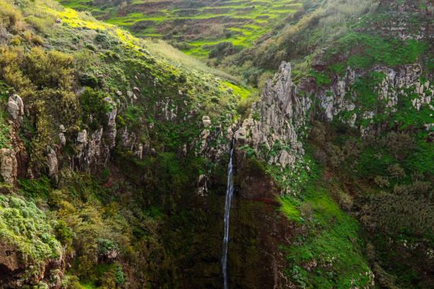 Garganta Funda waterfall, Western Madeira, Portugal